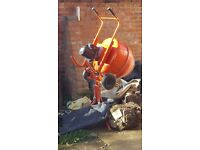 Cement mixer electric as new condition.
