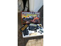 Scalextric set inc controllers and 3 cars