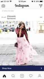 Maxi skirt - pink floral