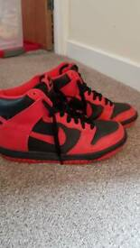 Nike red high tops