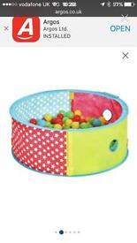 £8 contains balls / Chad Valley Pop up ball pit