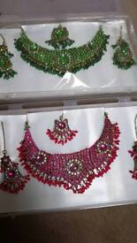 Brand new in boxed necklace earring headpiece set