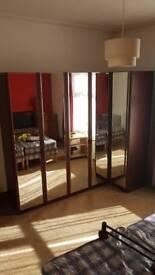 Large mirrored wardrobe