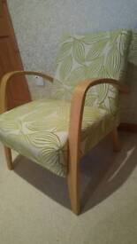 *Lower price* Small re-covered wooden chair
