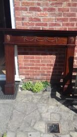 Wooden fire place great condition