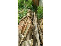 Free fire wood timber decking