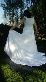 Beautiful wedding dress beaded detail long train
