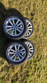 4 VW alloy wheels