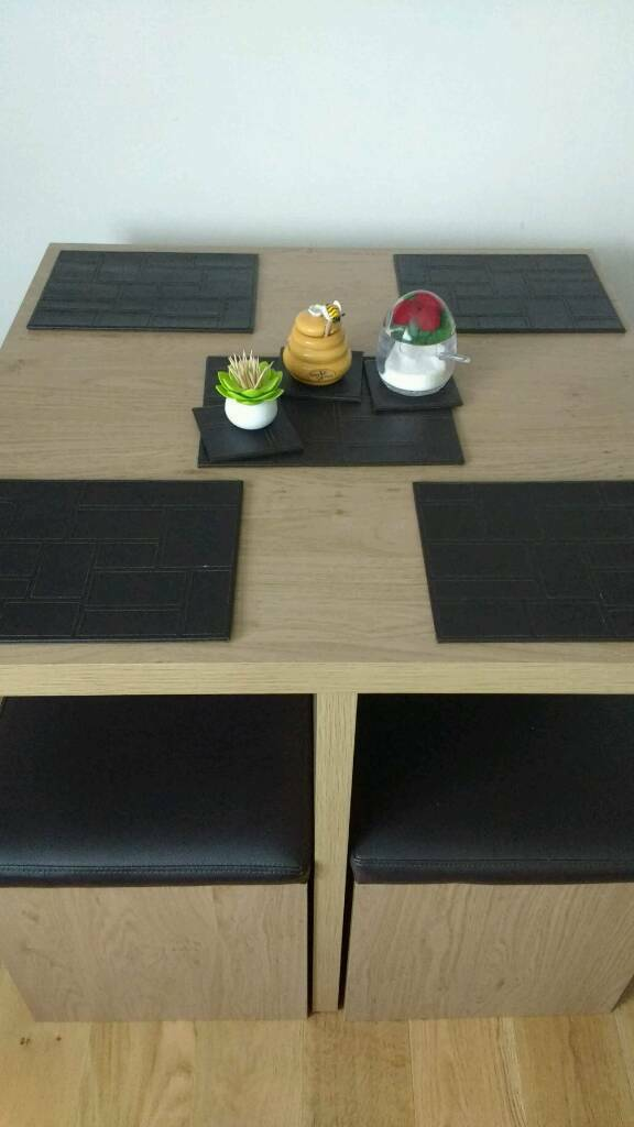 Dining table with 4 chairs GREAT SPACE SAVER