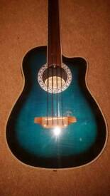 ARIA AMB 50B/FL Electro Acoustic Fretless Bass Guitar