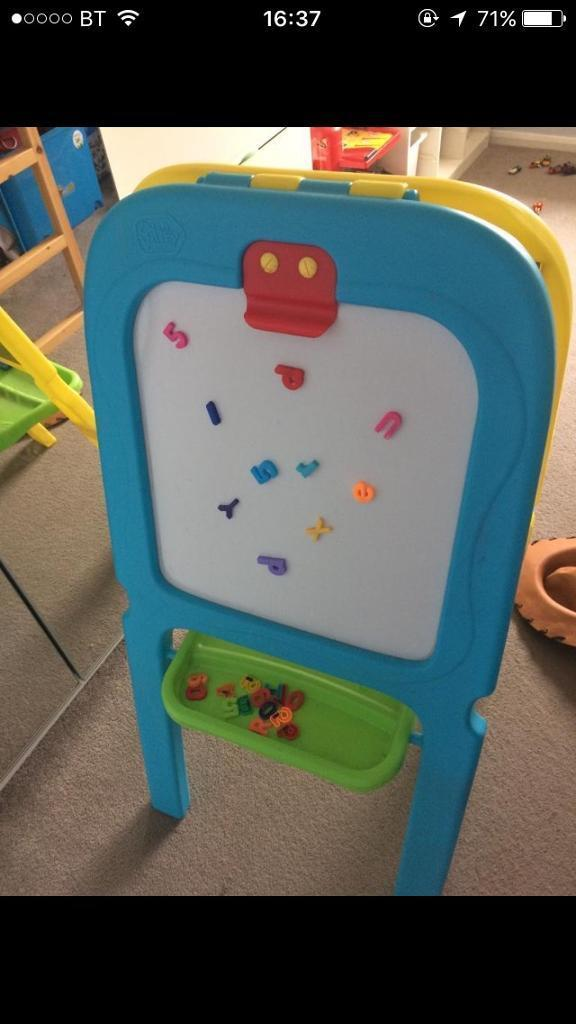 Quick sale! Double sided easel with accessories