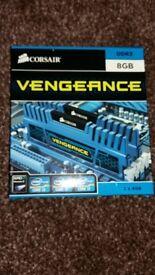 Corsair Vengeance 8GB (2x4GB) DDR3 1600MHz CMZ8GX3M2A1600C9B Blue