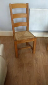 6 x solid wood chairs