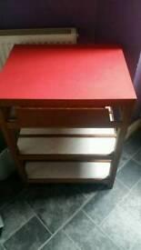 Red formica retro unit