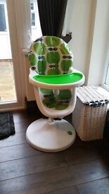 Cosatto apple high chair. In great used condition. Purchased from john lewis. Still under warranty.