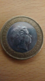 £2 Pound Coin Rare error 1807 An Act For The Abolition Of The Slave Trade
