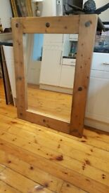Barker and Stonehouse large reclaimed wood mirror, stunning item