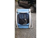 Brand new double bike trailer with jogger wheel