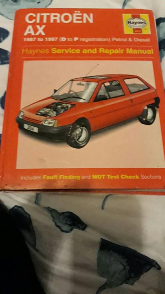 Citroen AX Haynes Manual