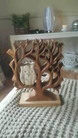 Wooden owl ornimant