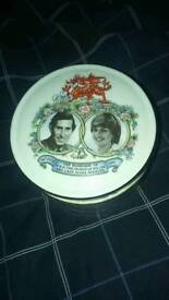 Small Lidded Prince Charles and Lady Dianna Spencer Pot
