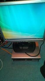 Dell sff desktop pc computer dual core win 7