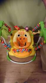 Jungle baby bouncer