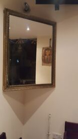 3 LARGE GOLDEN PLATED MIRRORS