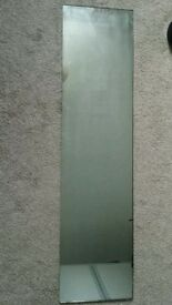 Mirror 122cm × 30cm with included 4 clips for mounting