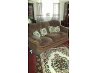 3 seater settee chair and puffee