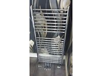 Chrome towel radiator in good clean condition with all fittings. size 1000mm x 450mm