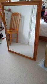 Large pine mirror
