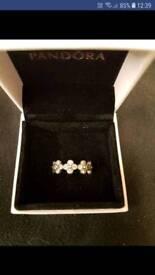 Genuine Pandora Oriental Blossom ring size 52