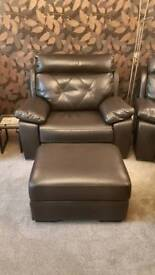 SCS Ashley Endurance Saddle Brown 3 Piece Suite with Footstools
