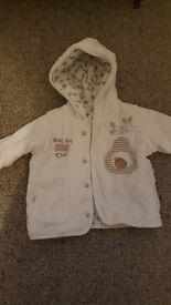M&S velour hooded jacket