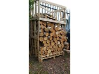 Spoilt stock of decorative hardwood logs Birch 50cm long approx 2 bulk bags worth