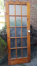 Internal wooden door with glass panels - great condition