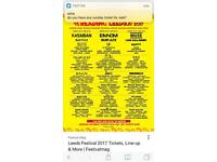 Leeds Festival Sunday tickets x 3