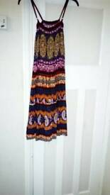 Strappy multicoloured dress size small