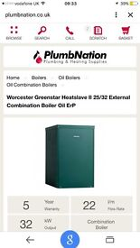 Worcester external combi oil boiler only 1 year old top of the range.in perfect working order