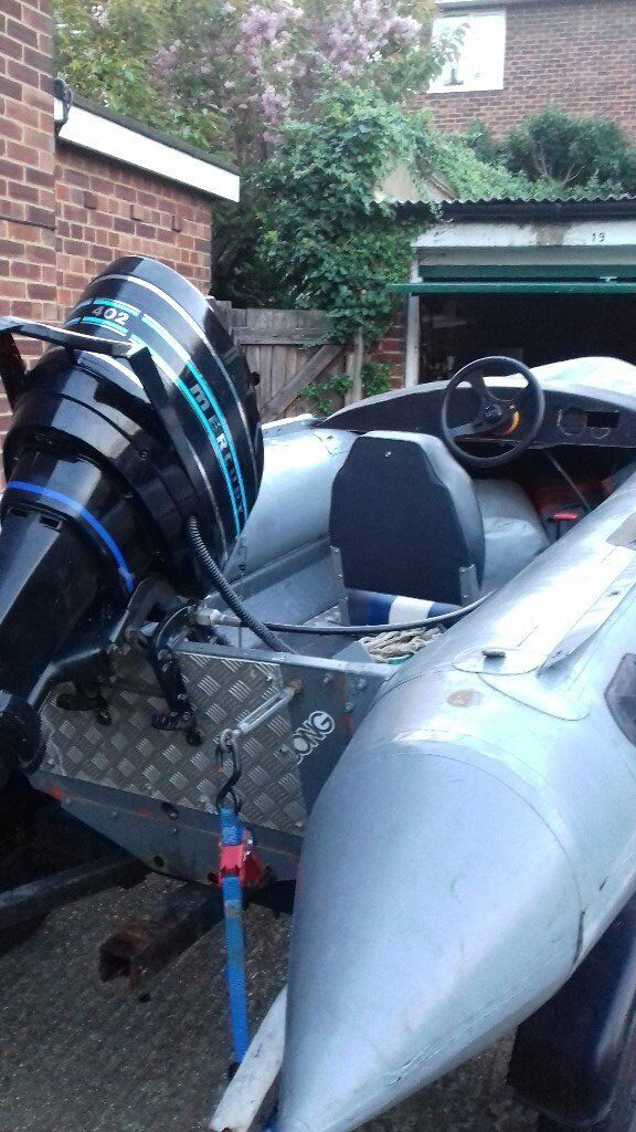 Avon Searider 4m 40HP RIB power boatin Bolton, ManchesterGumtree - Avon Searider 4 metre RIB with 2 stroke 40hp engine. All in working order. Needs some TLC in areas. Initially bought as a project but now moving abroad so wont be needing it. Comes with Inflatable seat Radio 30l fuel tank spare fuel tank Life jacket...