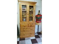 glazed solid wood kitchen dresser with drawers dovetail construction