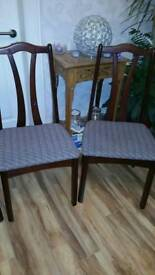 Four dining room chairs