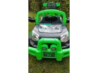 Green Jeep car