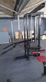 Heavy stacked gym equipment bundle