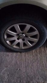vw wheels and tyres excellent condition