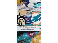 NFL WEMBLEY TICKETS- MIAMI VS NEW ORLEANS