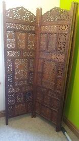 Carved wooden screen/room divider
