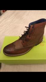 Brand new Ted Baker men's size 10 brown boots