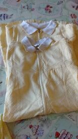 school gingham dress yellow 8 years old